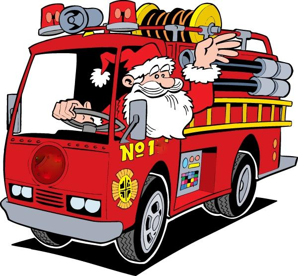 Image result for santa fire truck""